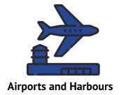 airports and harbours icons