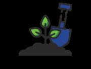 multi level gardening icon